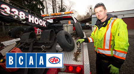 24 hour Roadside Assistance - BCAA